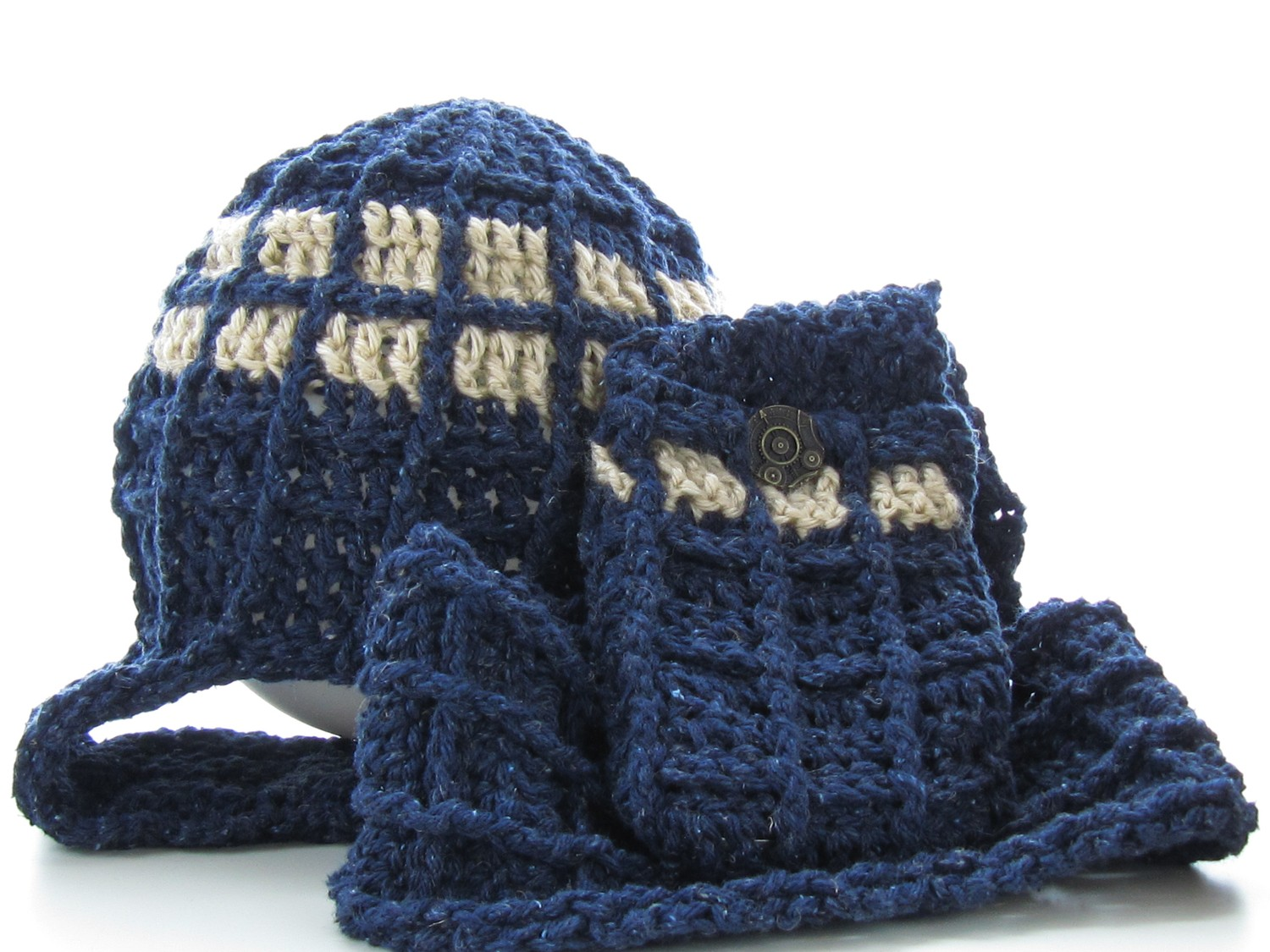 Its Here Crochet Pattern For The Space Man Hat Scarf Pocket