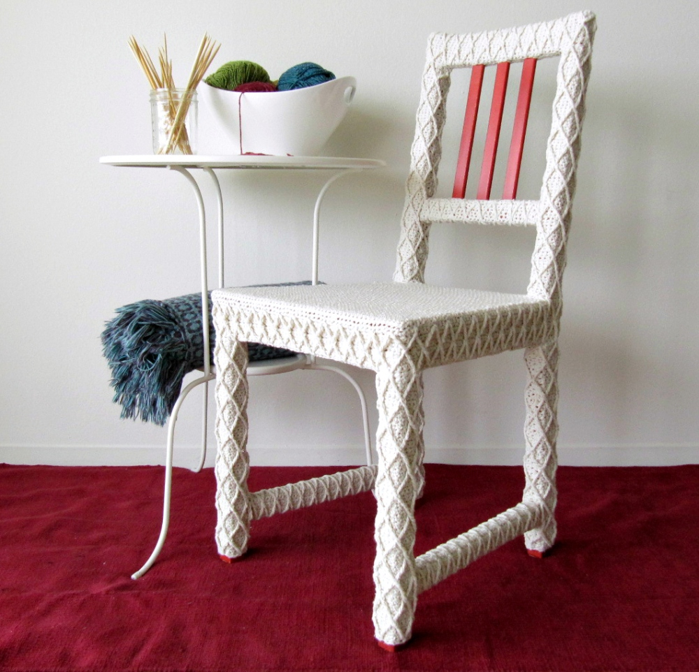 Yarnbomb Your Own Furniture | KNITS FOR LIFE