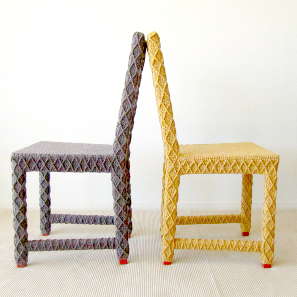 Yarn Bombed Crochet Chair by Knits for Life