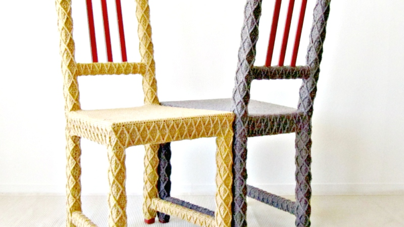 Yarn Bombed Furniture at STUDIO Gallery in SF