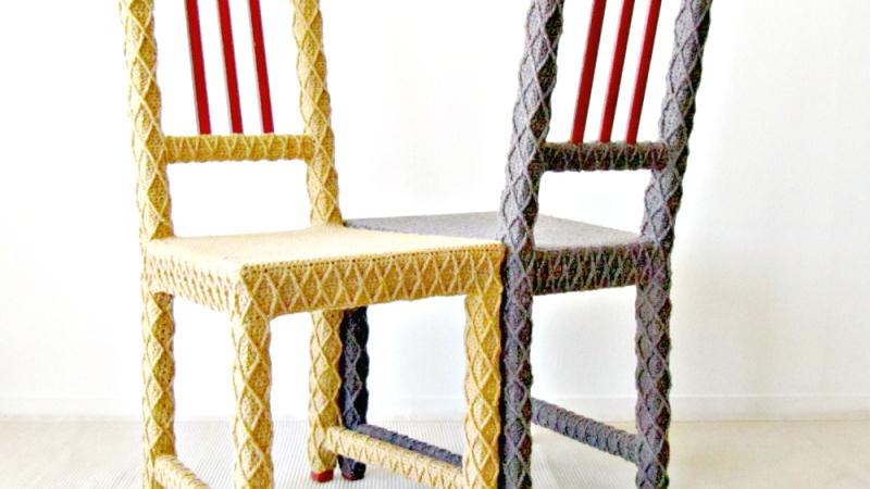 Yarn Bombed Furniture at STUDIO Gallery inSF