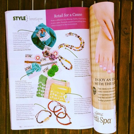 Knits for Life in Nails Magazine