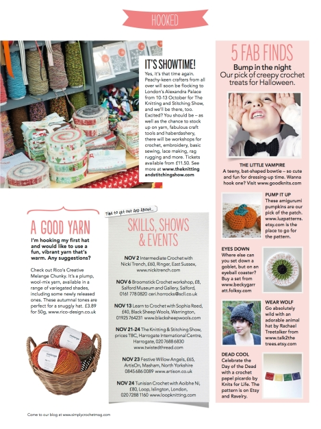 Simply Crochet Magazine Issue 10 News