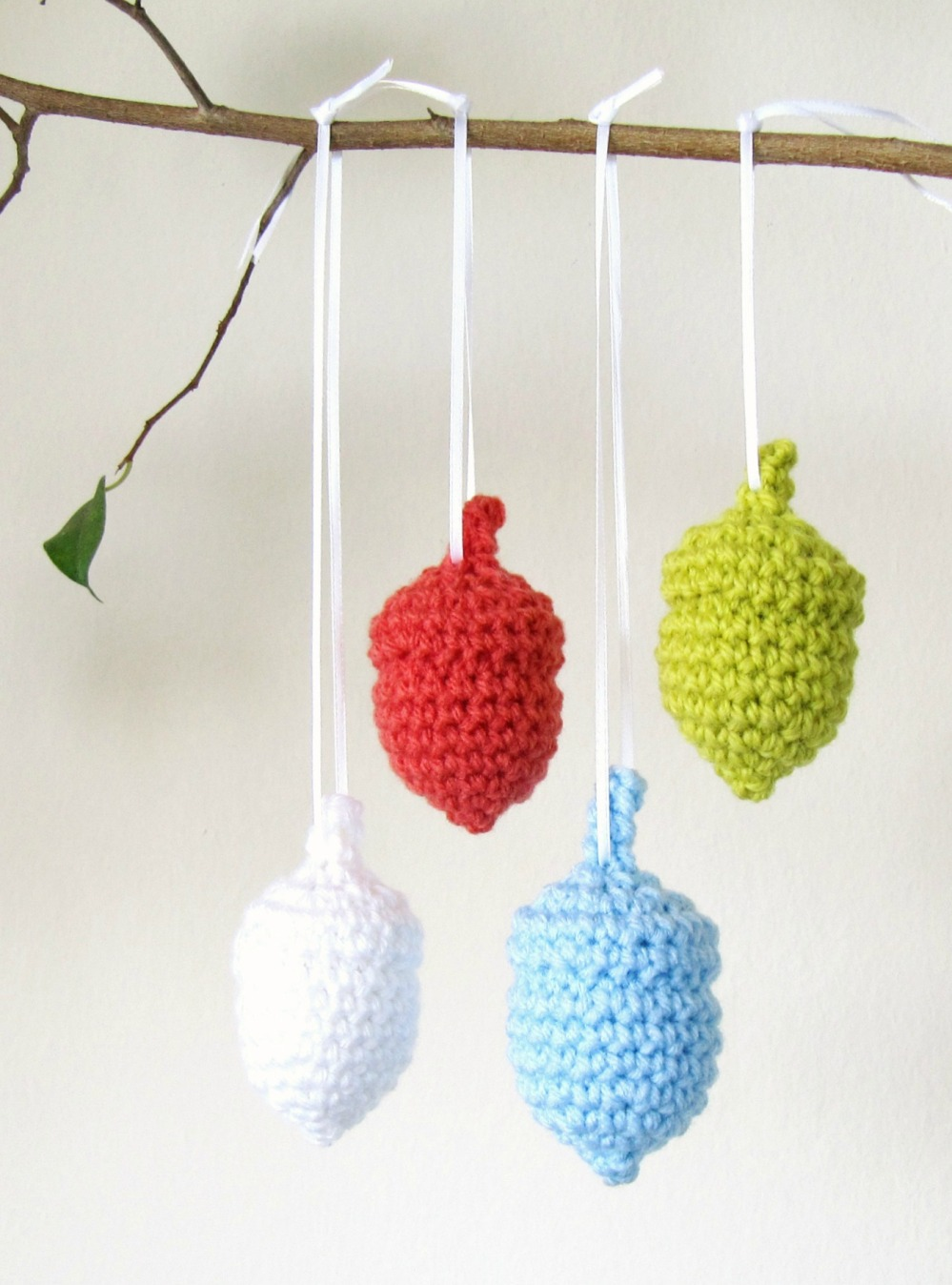 Crochet Acorn Ornaments