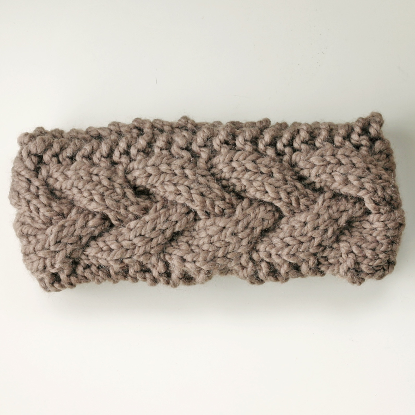 Knitted Ear Warmer Pattern : Chunky Knit Ear Warmer Headband KNITS FOR LIFE