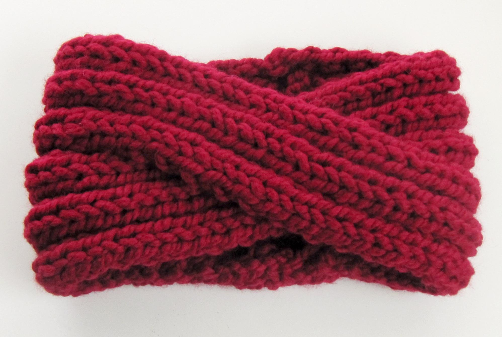 chunky knit turban headband ear warmer KNITS FOR LIFE
