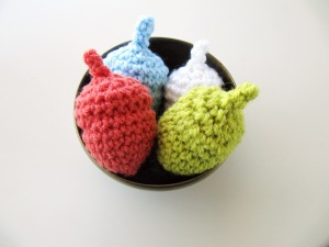 #hugtheacorn custom work by Knits for Life for My Outdoor Alphabet