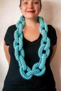 Crochet Chain Link Scarf Pattern