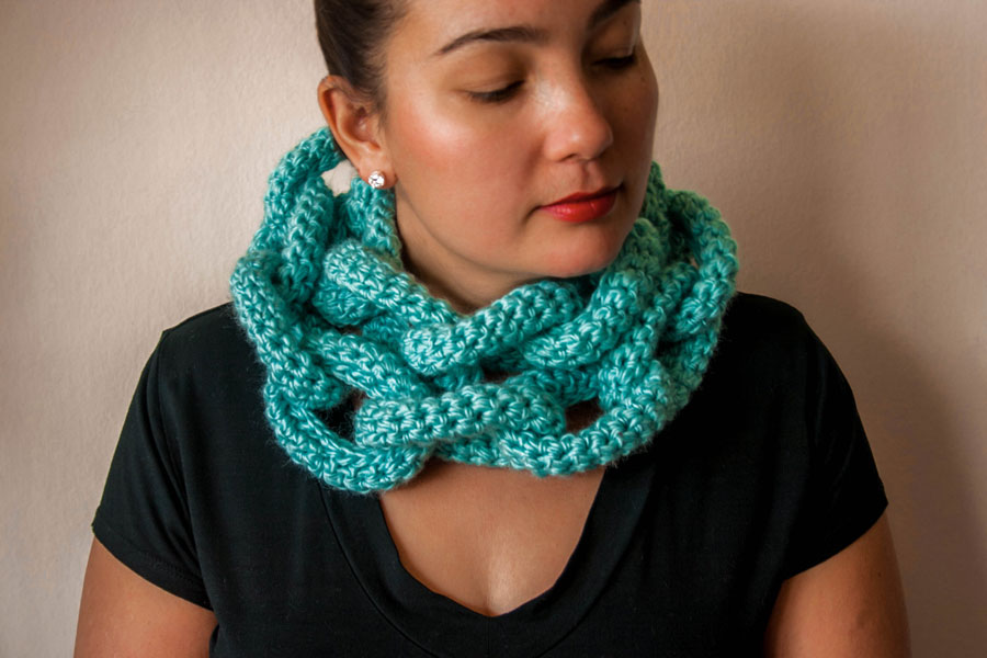Knits for Life chain scarf