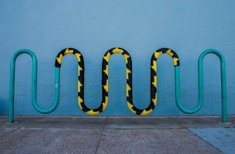 Bike Rack Yarn Bomb