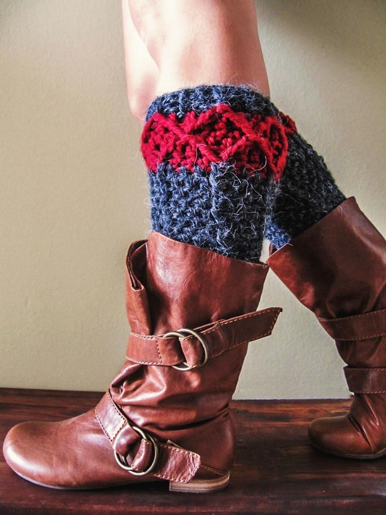 free pattern crochet leg warmers