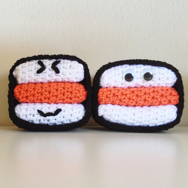 Crochet SPAM musubi
