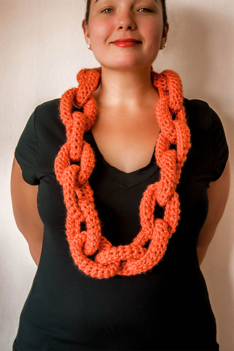 Knitting Pattern For Chain Link Scarf : Chain Link Scarf KNITS FOR LIFE