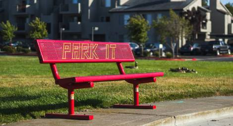 Park It Embroidery Yarnbomb by Knits for Life