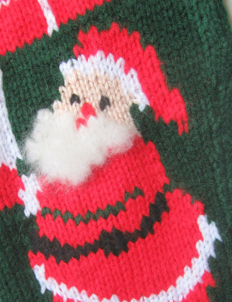 Personalized Vintage Christmas Stocking detail