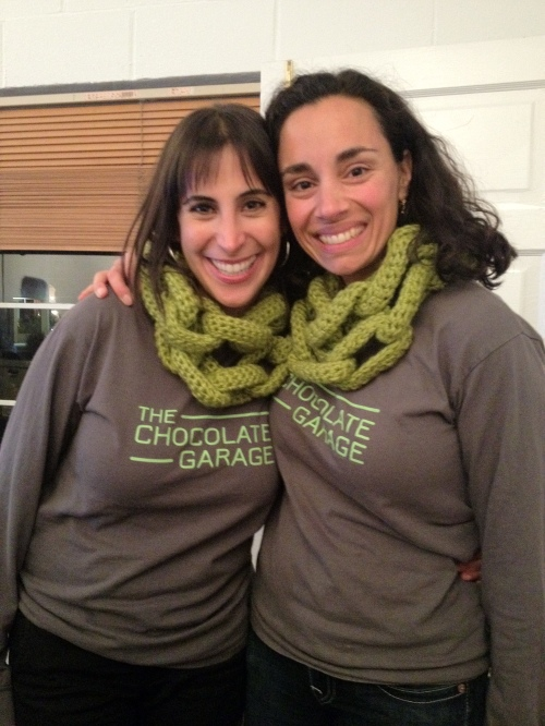 Custom crochet by Knits for Life for The Chocolate Garage