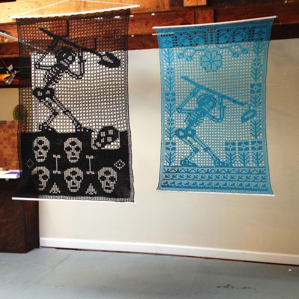 Crochet papel picado