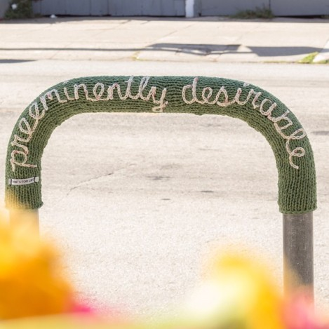 preeminently desirable yarnbomb by knits for life