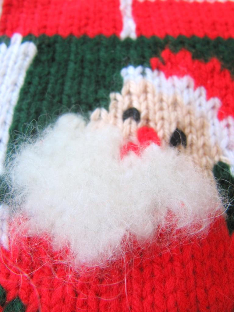 Vintage Christmas Stocking detail
