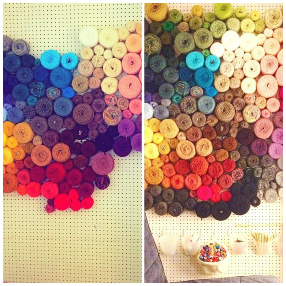 Yarn Storage Idea Peg Board