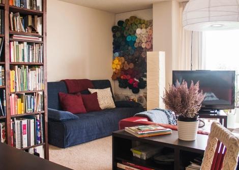 Peg Board Yarn Storage Idea