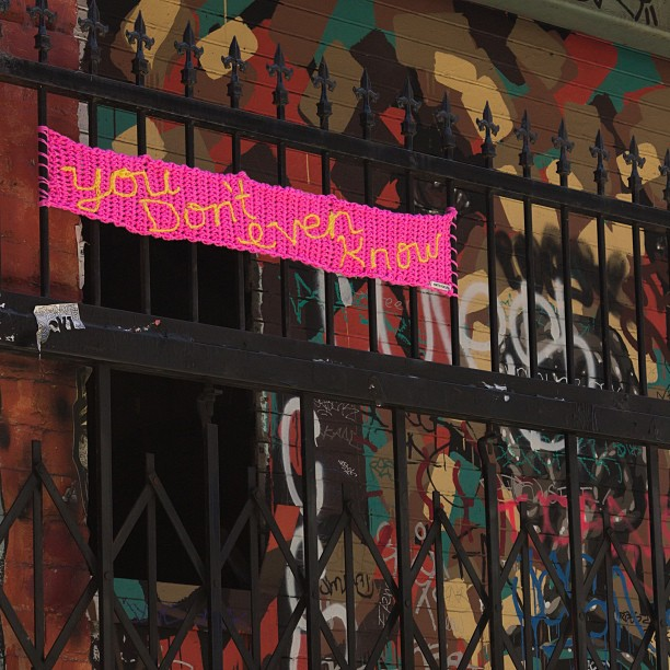 Clarion Alley Yarnbomb by Knits for Life