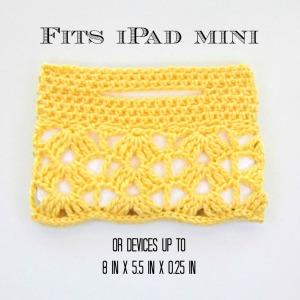 Crochet Lace iPad Mini Sleeve size