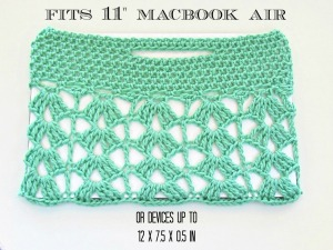 Crochet Lace MacBook Sleeve Size