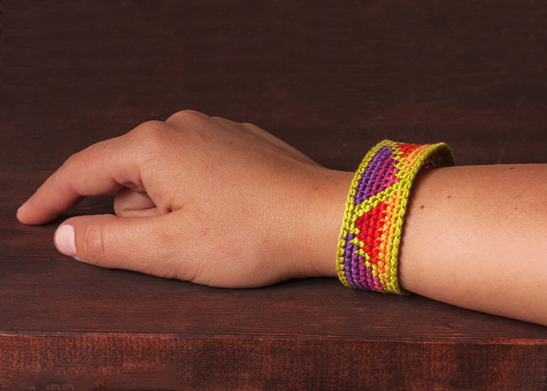 chevron patterns bracelet sided friendship bracelets double embroidery