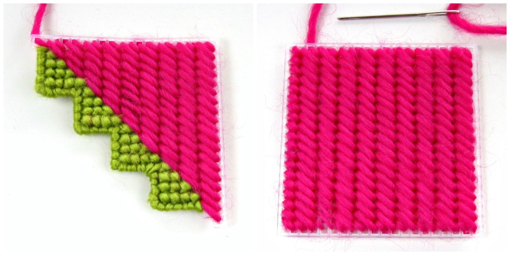 Needlepoint Monster Bookmark Tutorial face parts