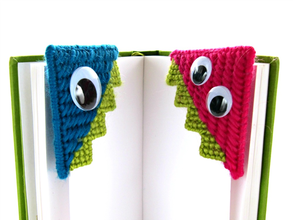 Needlepoint Monster Bookmark Tutorial | KNITS FOR LIFE