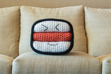 Spam Musubi Pillow Crochet Pattern
