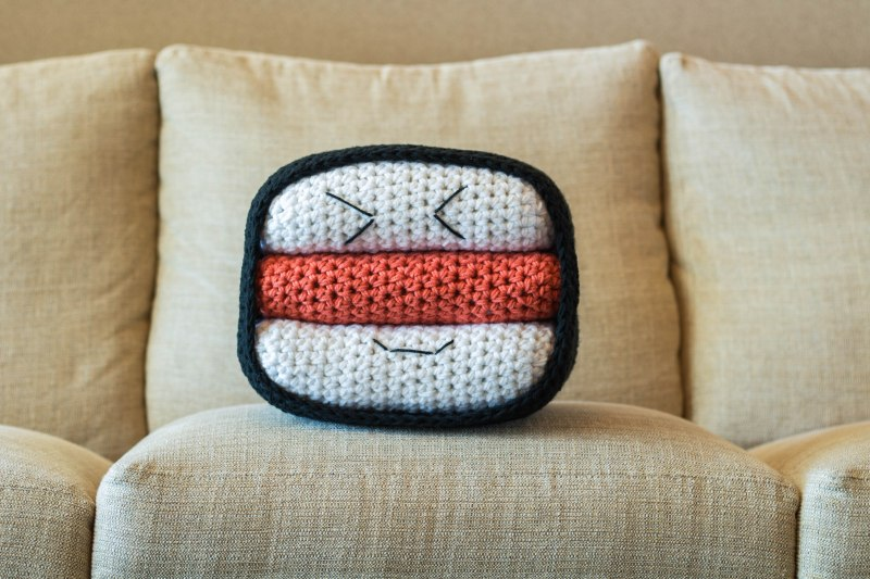 New Crochet Pattern: SPAM Musubi Pillow