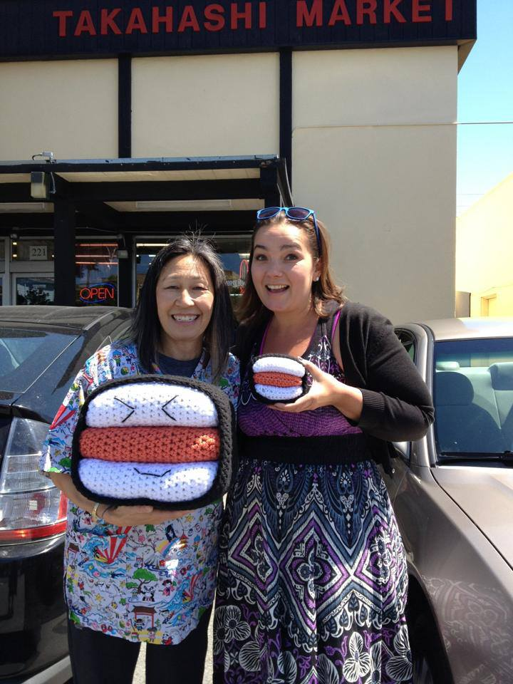 Norma Takahashi and Knits for Life with Sam the SPAM