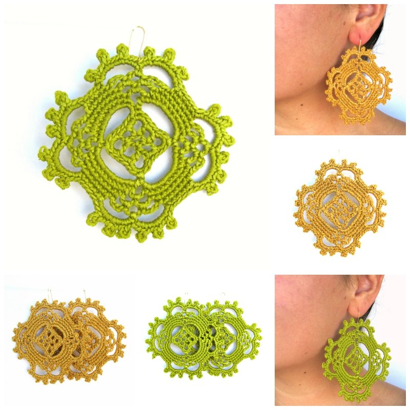 New Crochet Pattern: Happy Earrings