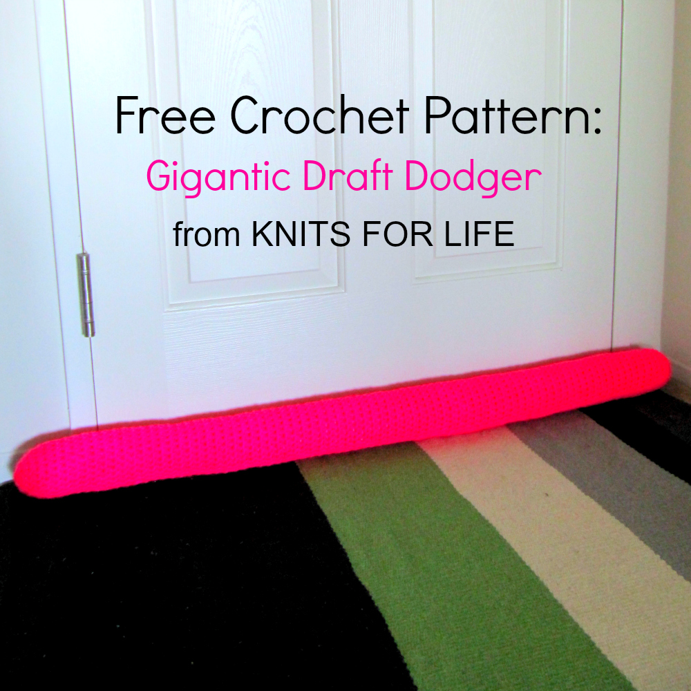 free crochet pattern draft dodger knits for life