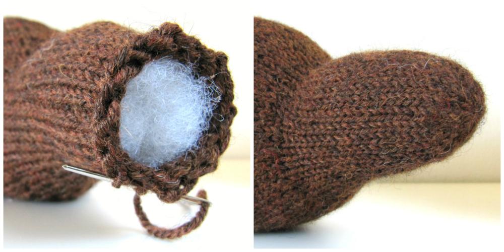 Knit Beaver Pattern close head