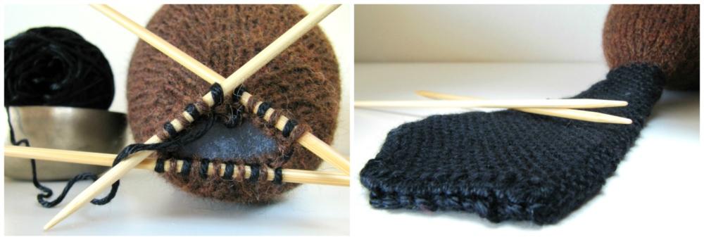 Knit Beaver Pattern tail