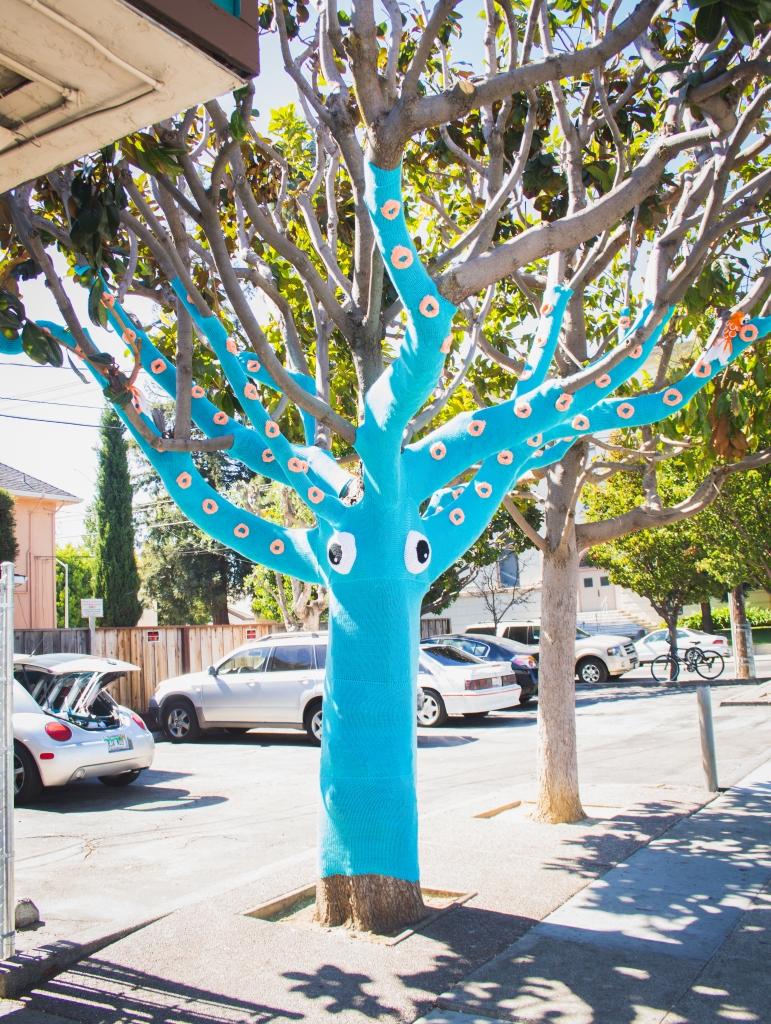 squidtree yarnbomb san mateo