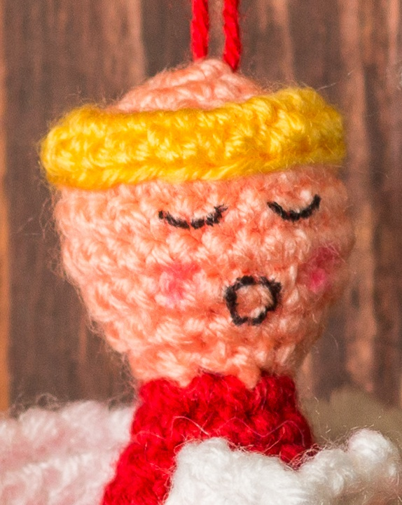 Crochet Pattern for Choir of Angels Christmas Ornaments