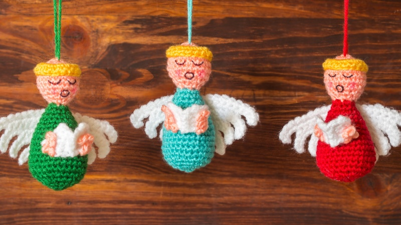 Diy Christmas Angels Ornaments.Diy Christmas Crafts Knits For Life