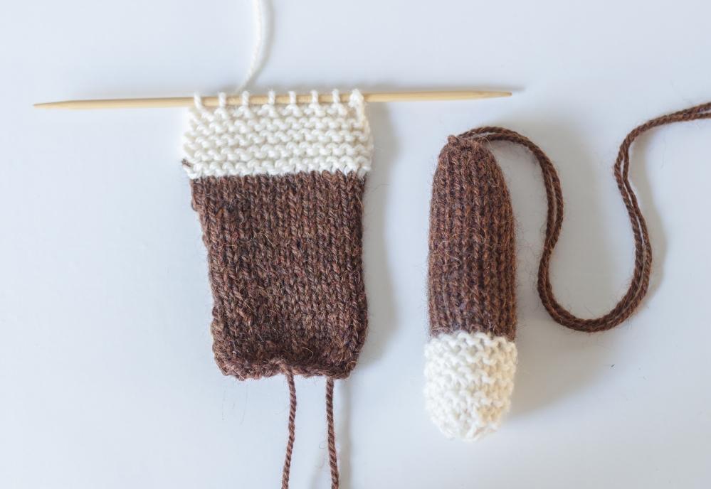 Custom Knit Mr Bean Teddy Bear