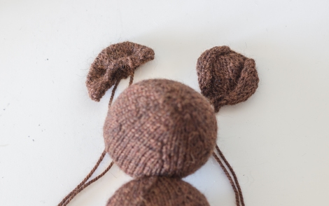 Custom Knit Mr Bean Teddy Bear