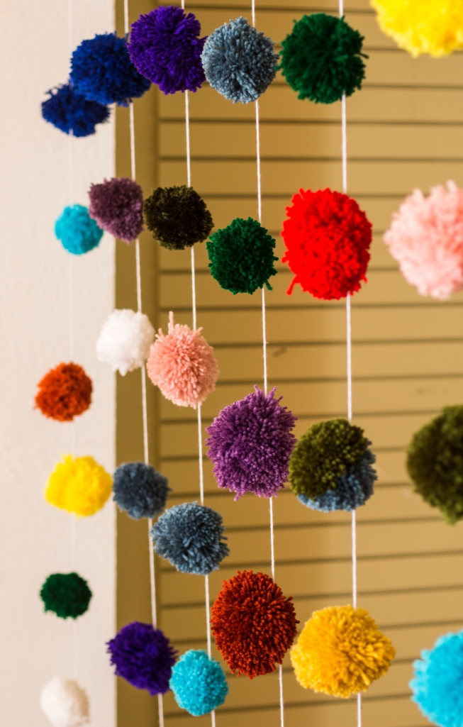 pom pom curtain by the dapper toad