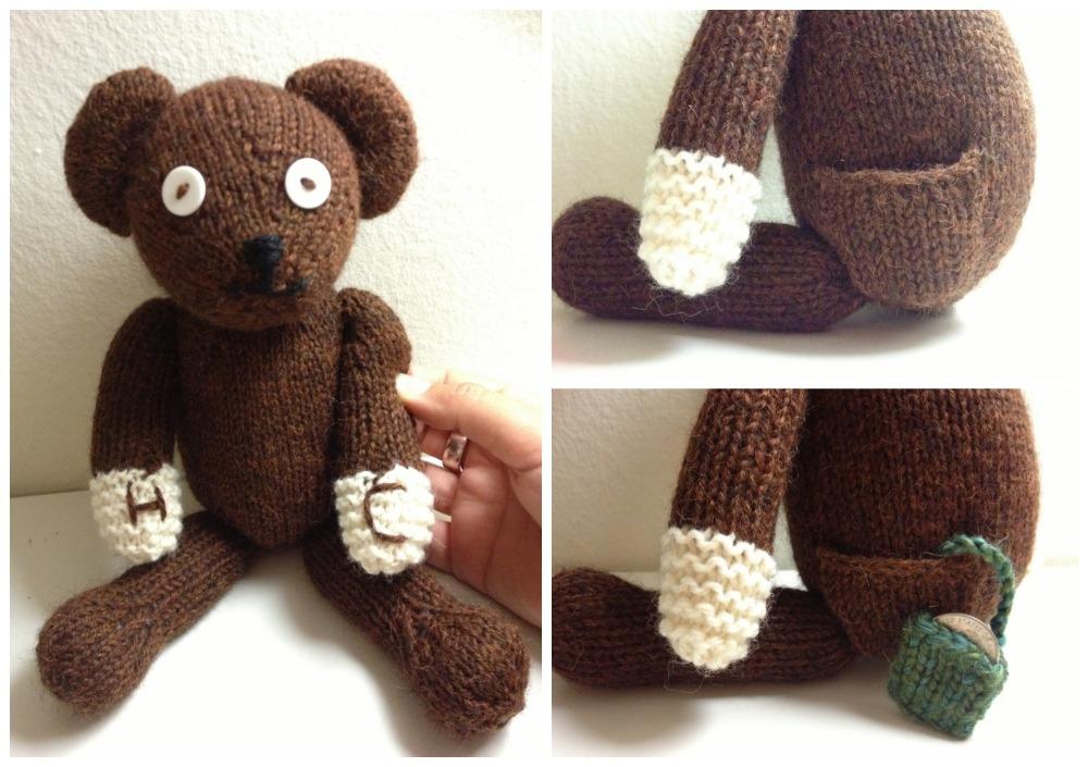 custom knit mr bean bear