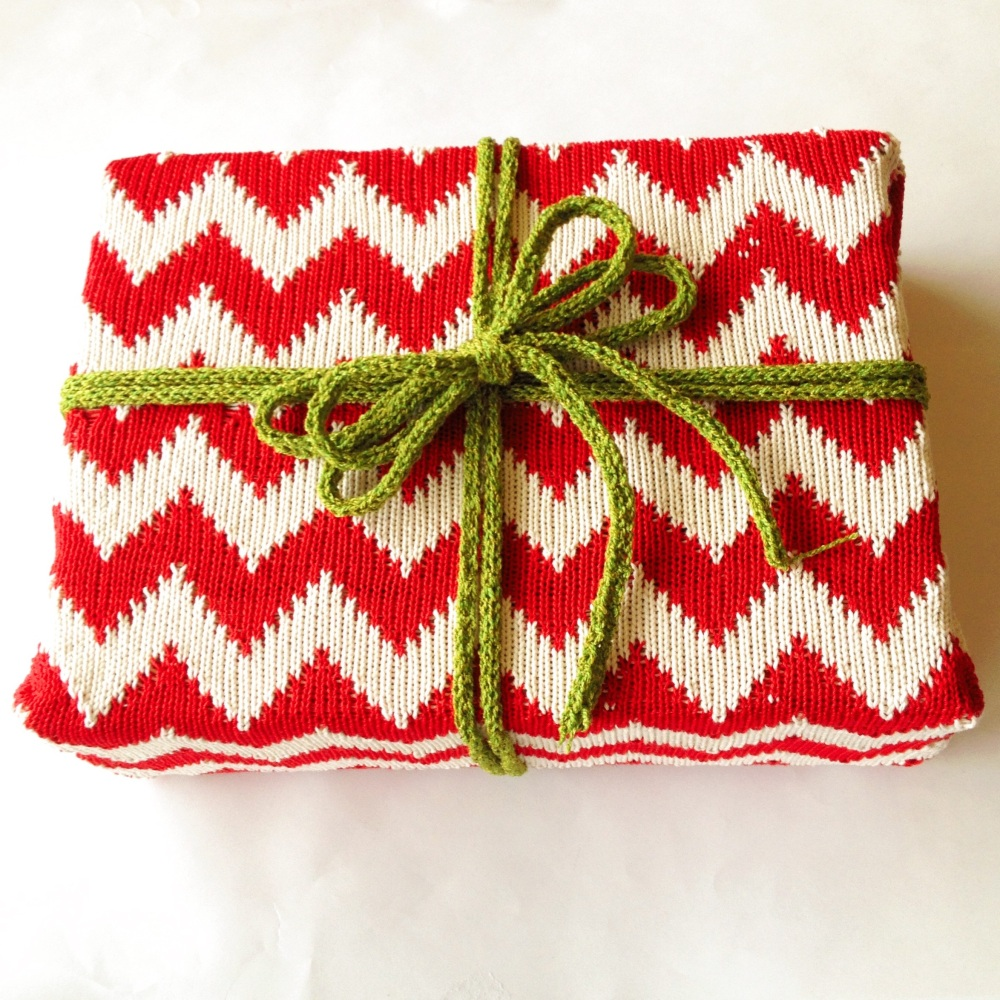 Machine Knit Chevron Wrapping Paper