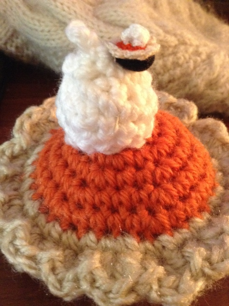 crochet pumpkin pie