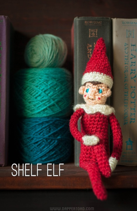 Shelf Elf crochet pattern