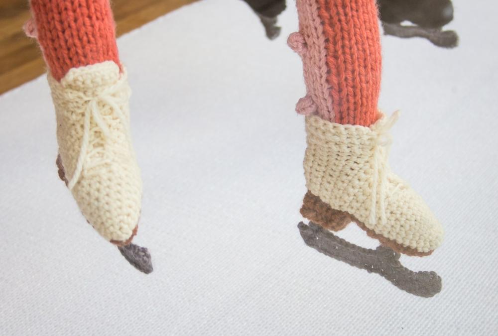 crochet ice skates