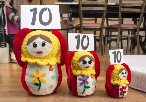 crochet russian nesting dolls olympic judges